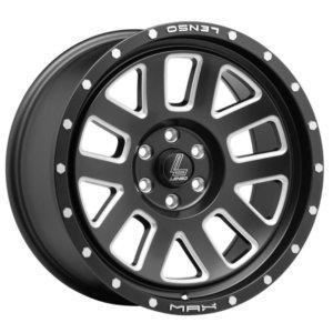 17x9 LENSO MX-7 6x114.3 20 Satin Black with Edge Spoke Chamfer