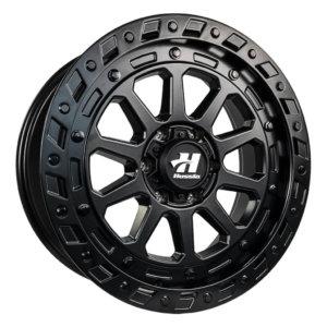 HUSSLA INVADOR 20x9 6x139.7 30 FULL MATTE BLACK WITH BLACK BOLTS