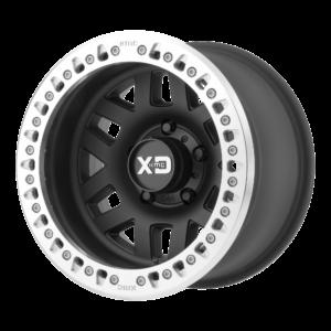 MACHETE CRAWL 17x9 8x165.1 SATIN BLACK W/ MACHINED RING-XD22979080738N