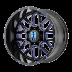 GRENADE 18x9 5x127 SATIN BLACK MILLED W/ BLUE TINTED CLEAR COAT-XD82089050912NBC