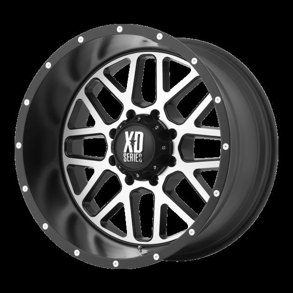 GRENADE 18x9 8x180 SATIN BLACK W/ MACHINED FACE-XD82089088518